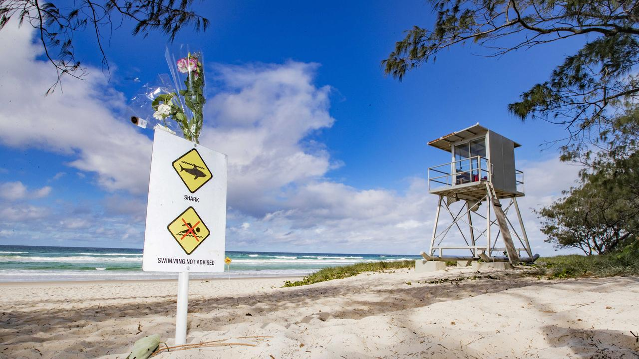 The scene of the fatal shark attack South of Kingscliff. Picture: Nigel Hallett