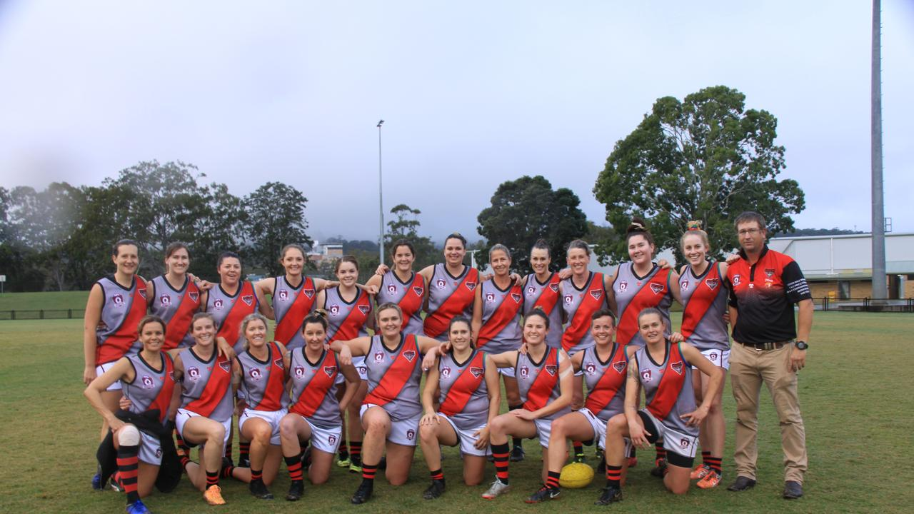 WONDER WOMEN: The Ballina women's team outclassed Lismore in a crushing defeat at Oakes Oval on July 25, 2020.