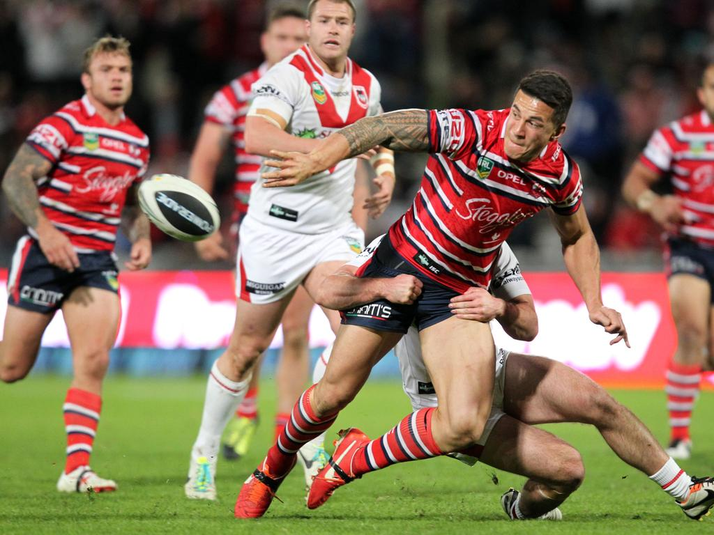 Sonny Bill Williams playing for the Sydney Roosters in 2013.