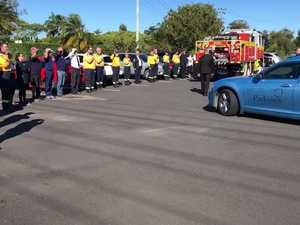 Guard of honour at RFS funeral