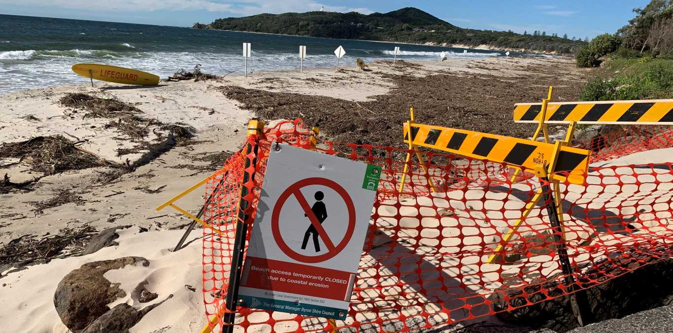 There has been major erosion at Byron Bay over the last few days.