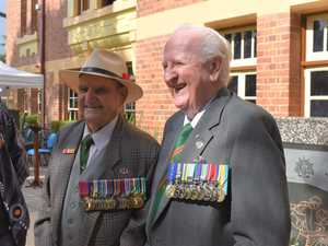 Veterans and local dignitaries gathered in Ipswich