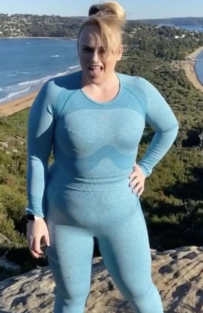 Rebel Wilson has been impressing fans with her regular fitness updates. Picture: Backgrid.