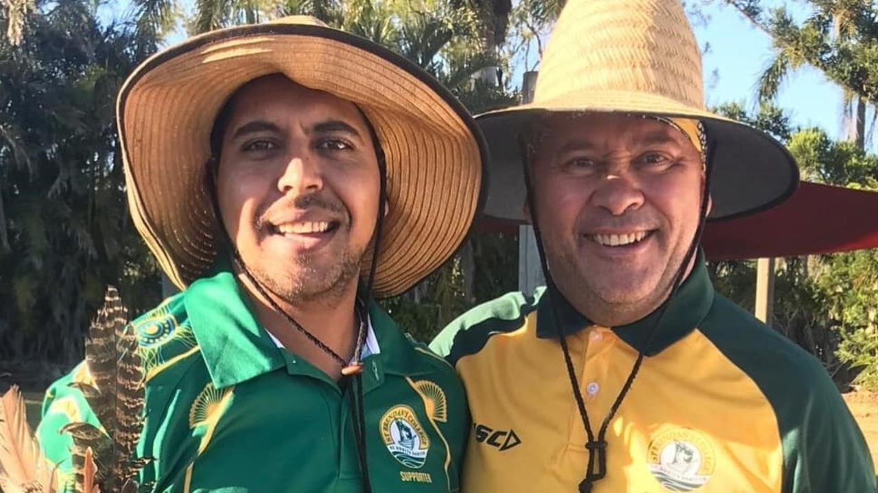 Alwyn Doolan embarked on a 150km fundraising walk from Duaringa to Yeppoon to raise money for his former teacher Peter Bartlett, who has been diagnosed with terminal brain cancer.