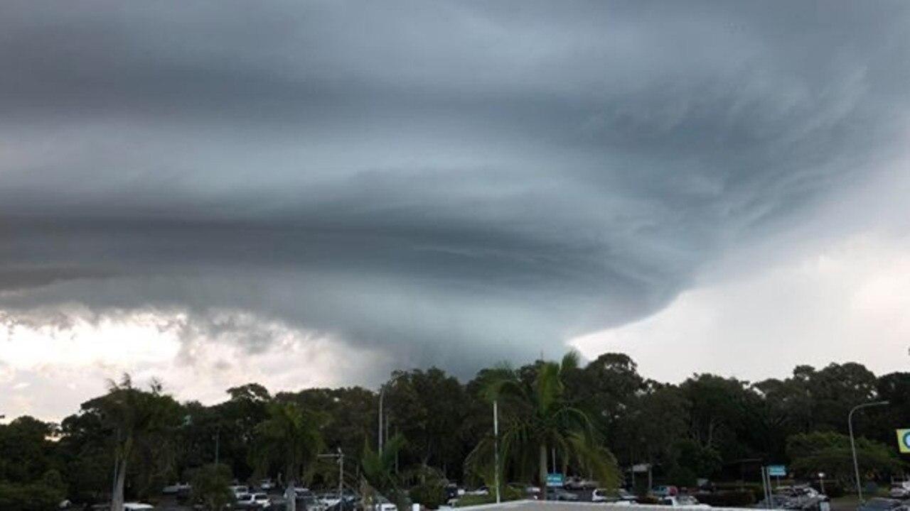A huge storm cloud over Urangan on the weekend.