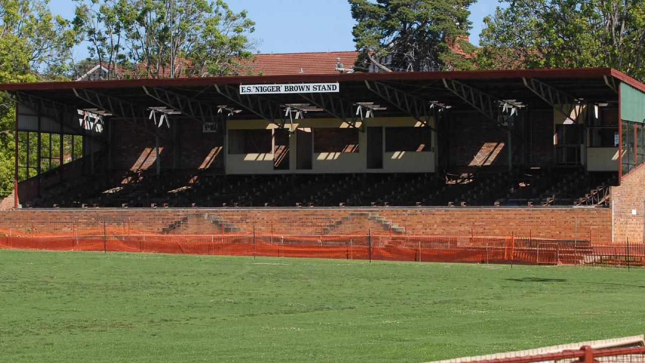 The ES 'Nigger' Brown Stand in Toowoomba was the subject of a campaign by Dr Hagan but has since been demolished.