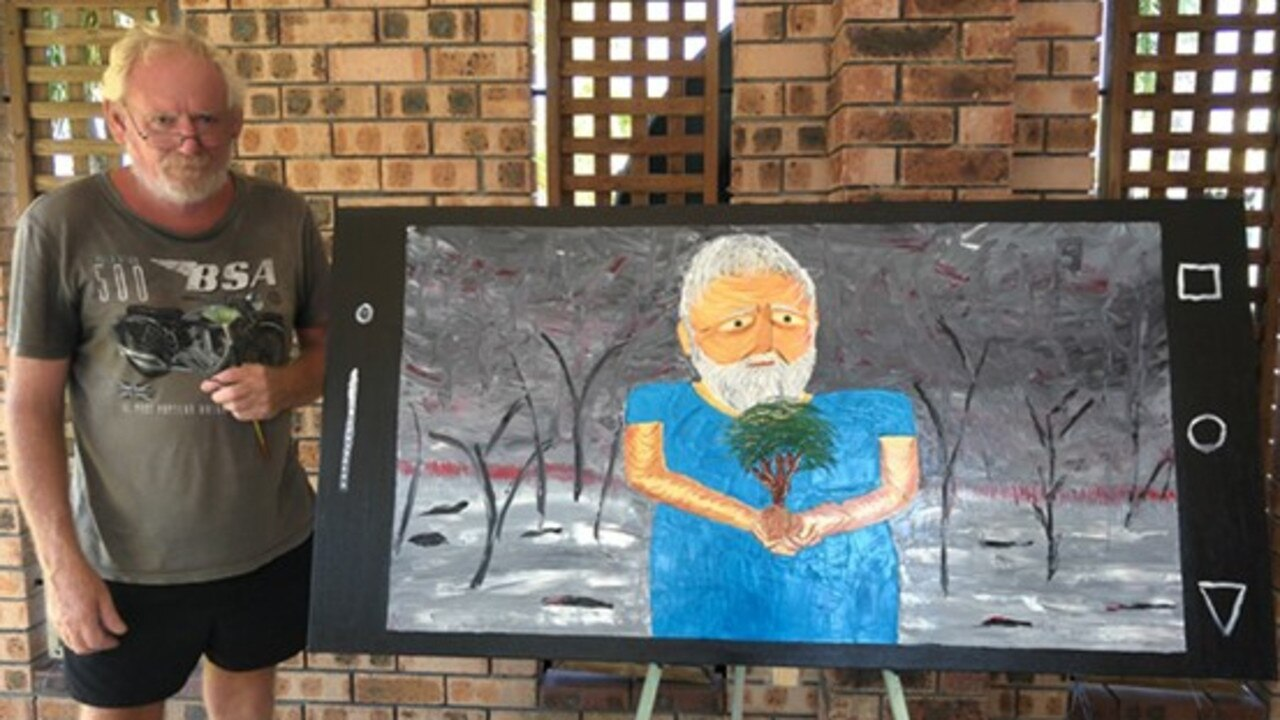 Lance Payne's entry into the Archibald Prize 2020 competition, titled