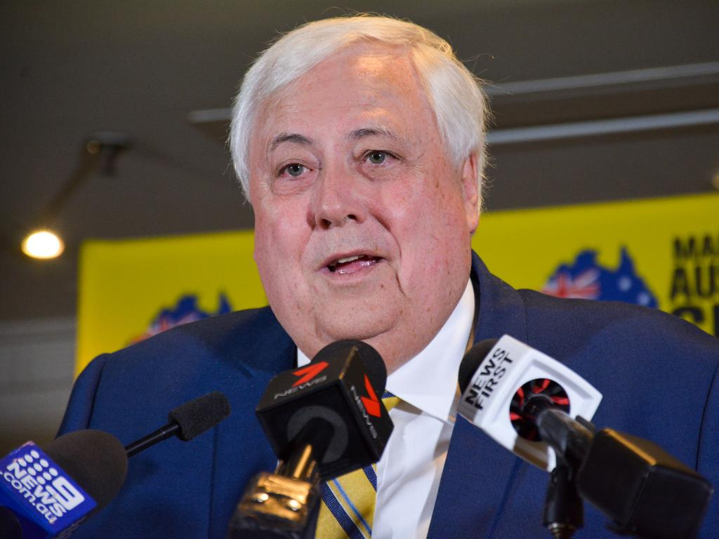 United Australia Party leader Clive Palmer. Picture: AAP Image/Rebecca Le May