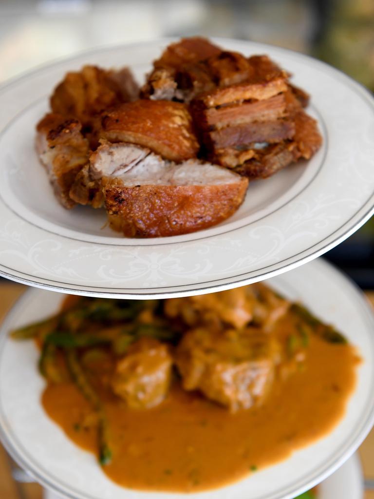 Tasty food at the Filipino Cafeteria on Berserker Street