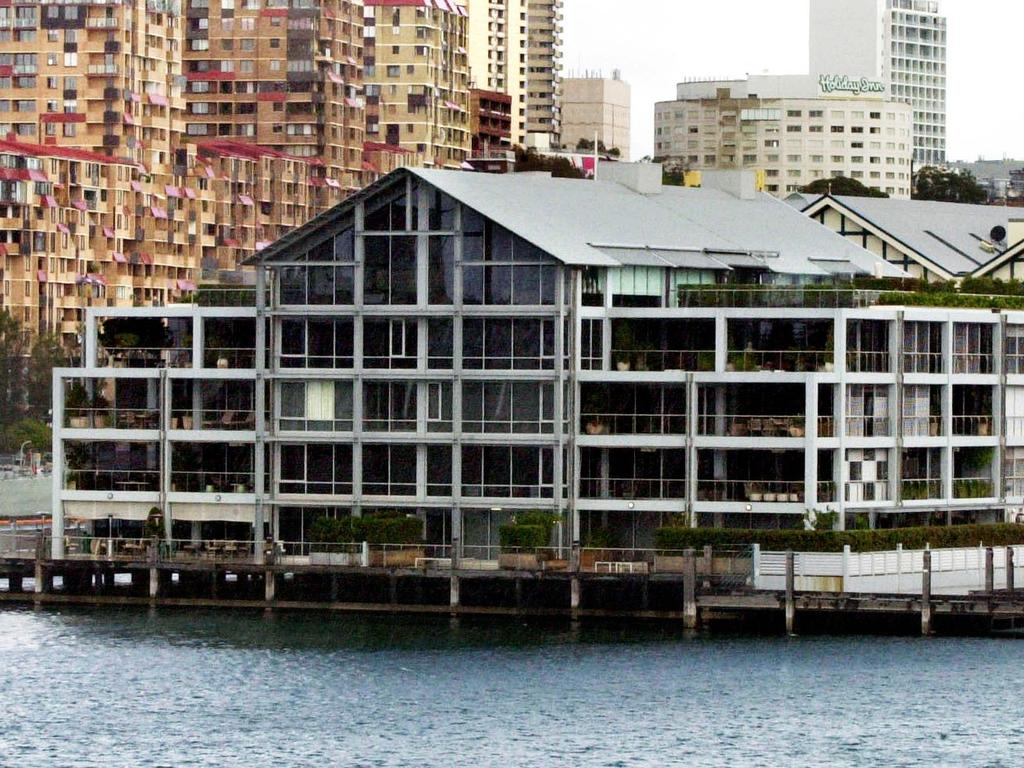 Apartment complex at the Finger Wharf, Woolloomooloo in Sydney with the entire third floor purchased by actor Russell Crowe.
