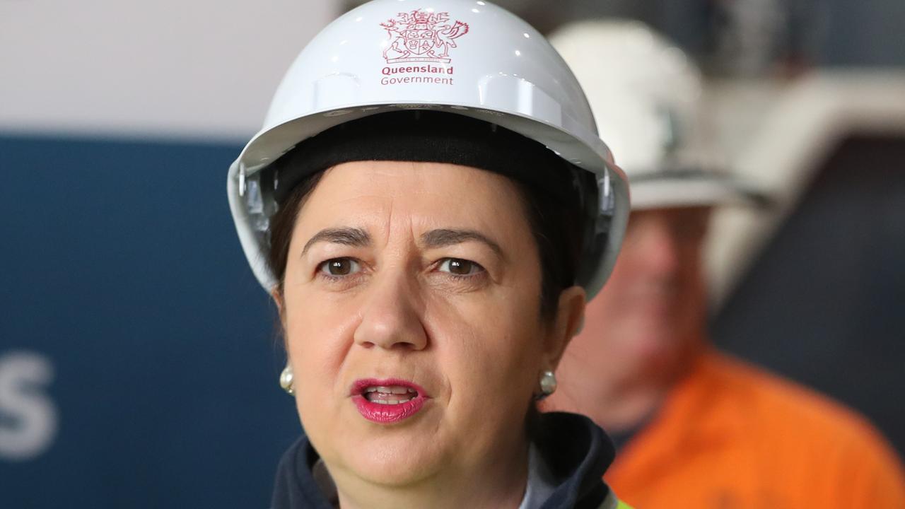 Premier Annastacia Palaszczuk making an announcement about the Cross River Rail project. Picture: Peter Wallis