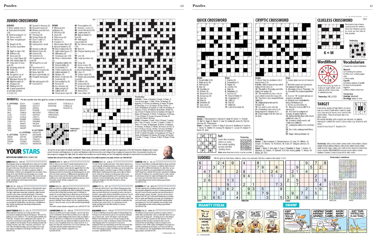 Puzzles are included in the digital edition.