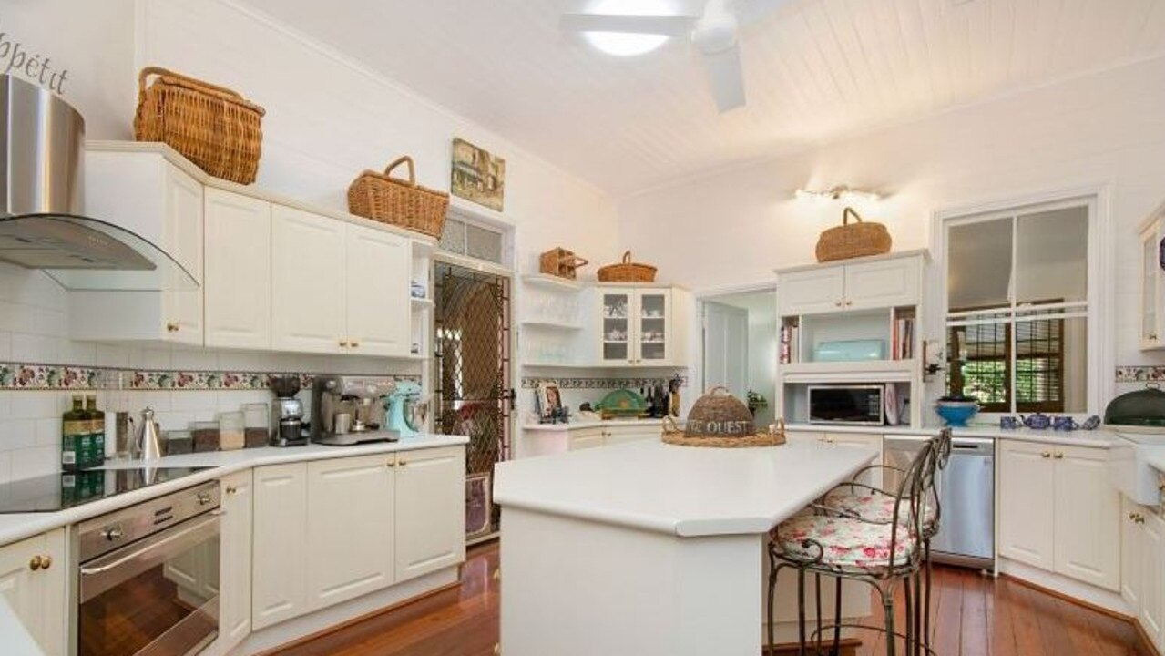 The home's large kitchen also has a butler's sink.