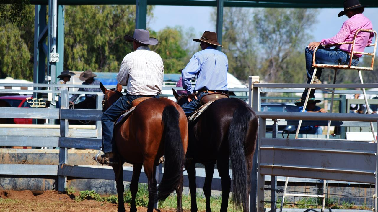 CANCELLED: Riders wait by the sidelines at the 2019 Grandfather Clock Campdraft in Chinchilla. Pic: Peta McEachern