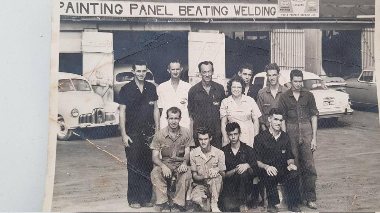 An old photo of Taylor's Automotive Services, which started in 1952 in Bundamba.