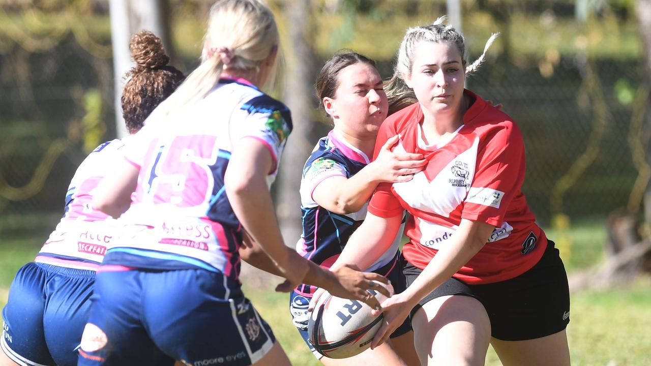 Colts' Rachel Brook in action against Brothers at Victoria Park. Picture: Jann Houley