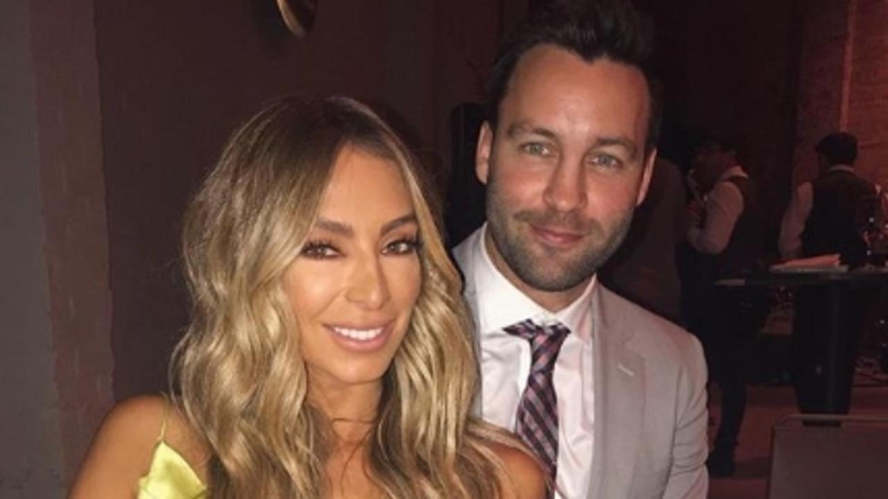 Nadia and Jimmy Bartel pictured on her Instagram account last year.
