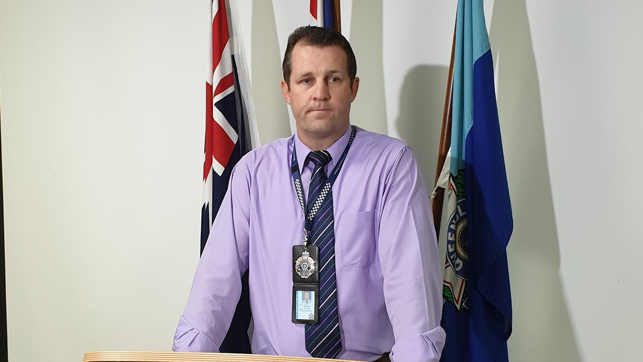 Acting Inspector Luke Peachy from Rockhampton's Criminal Investigations Bureau.