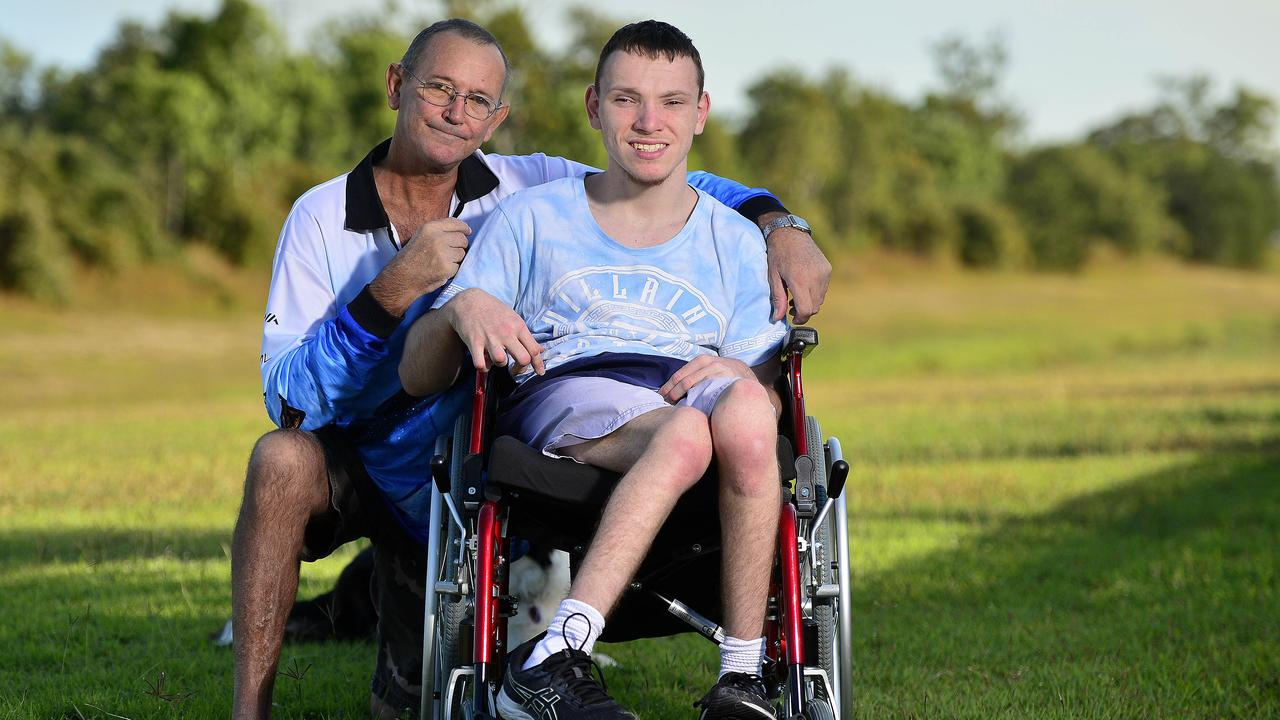Paul Bennati and his son Brayden, 20 say they are being ignored by local taxi services. PICTURE: MATT TAYLOR.