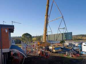 WATCH: Timelapse of installation of 50-tonne building