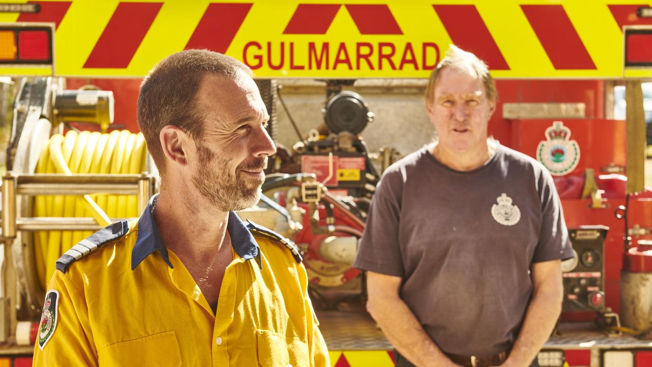 Gulmarrad Rural Fire service captain Andrew Paull and member Mick Covell reflect on last year's fire season.