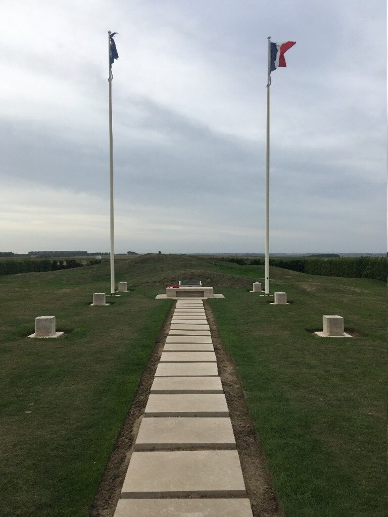 Pozieres Windmill site and beyond where Archibald Fisher fell. (Picture: Richard Kerr)
