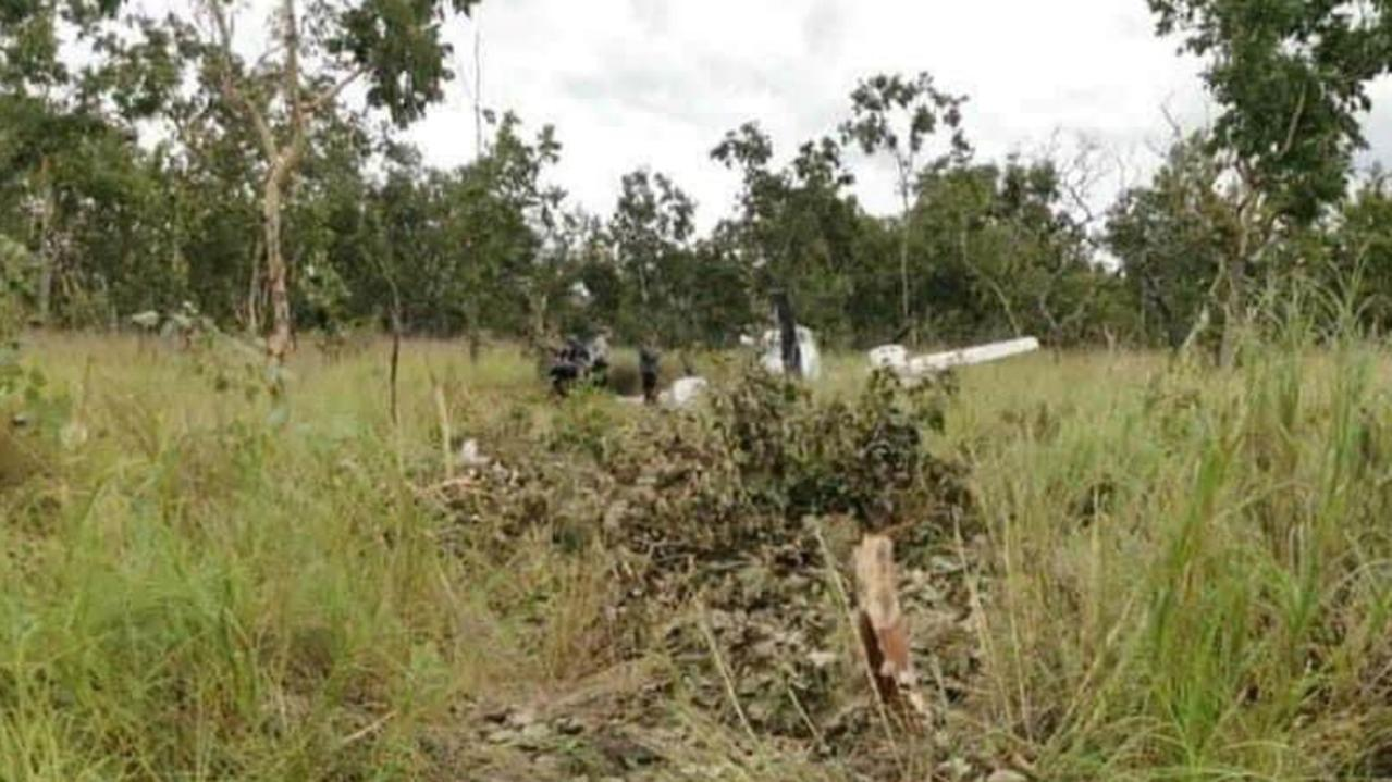 A light aircraft has crashed in suspicious circumstances just outside Port Moresby in Papua New Guinea and may have originated from Mareeba. Picture: Deni ToKunai via Royal Papua New Guinea Constabulary