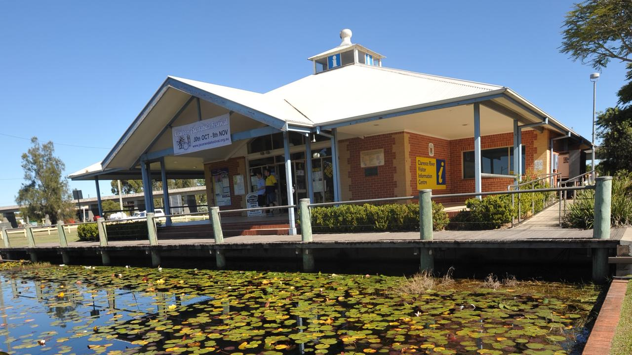 The pond at the Grafton Tourist Information Centre in South Grafton.