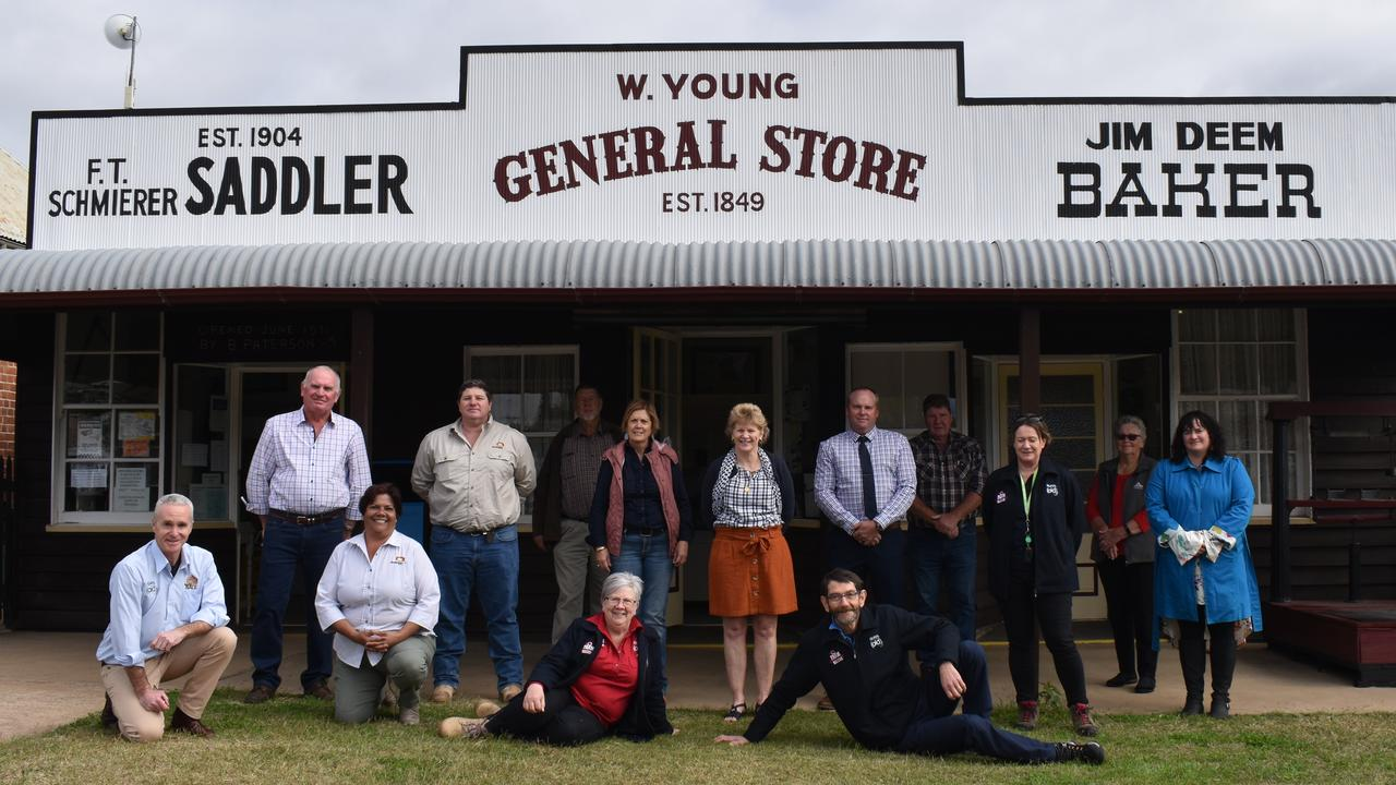 North Burnett councillors with Rural Aid members outside Gayndah Museum. Picture: Sam Turner