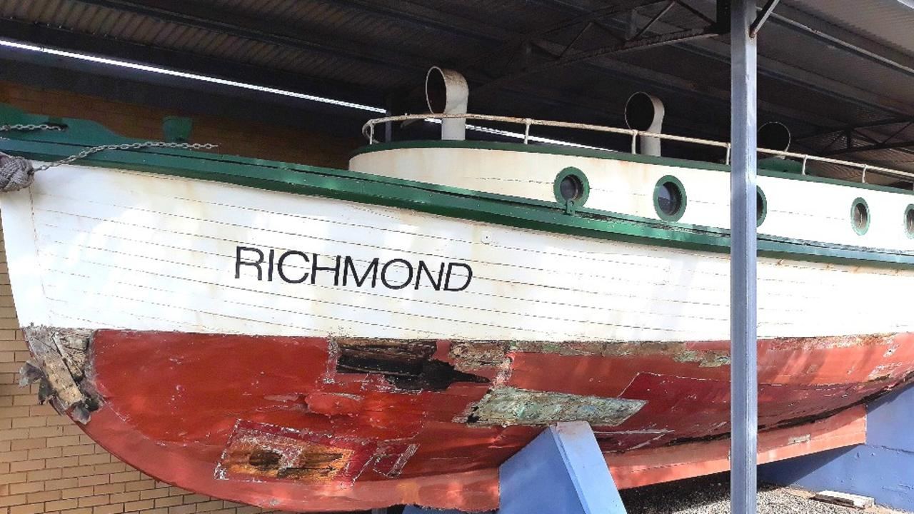 Work is under way to protect the PV Richmond, which is on display at the Ballina Naval and Maritime Museum.