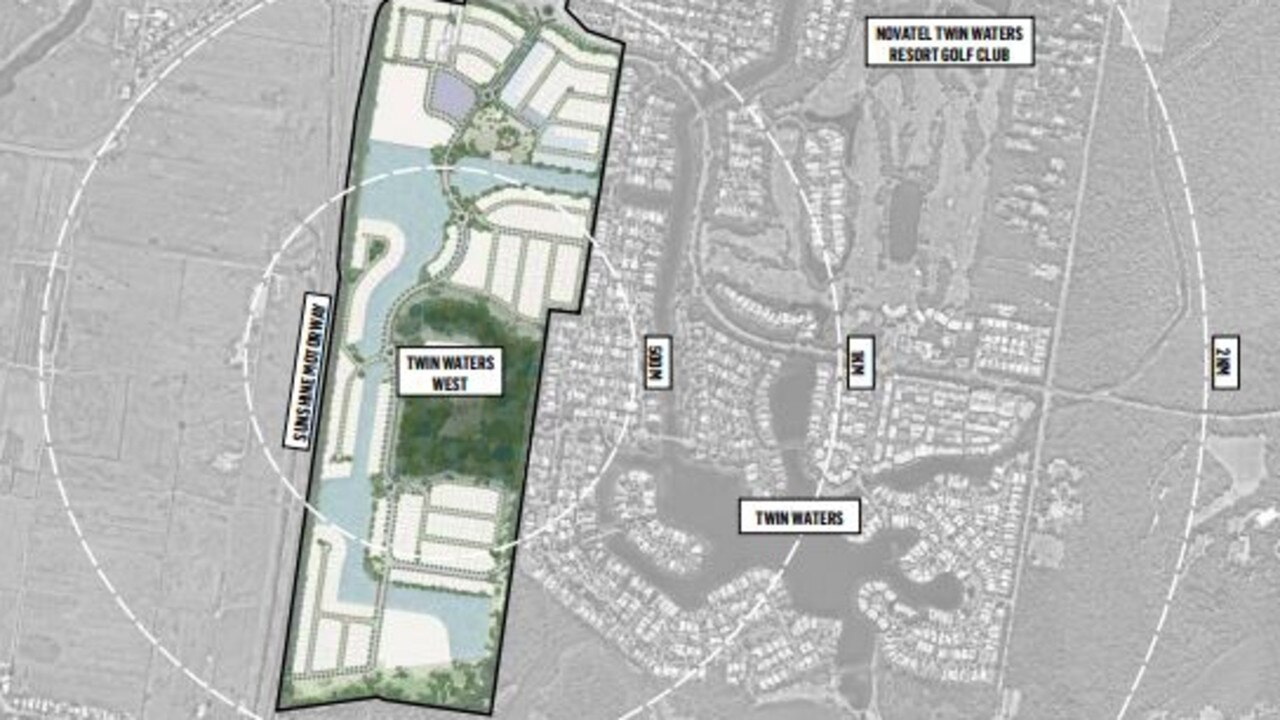 PLANS: Designs for the Twin Waters West development.