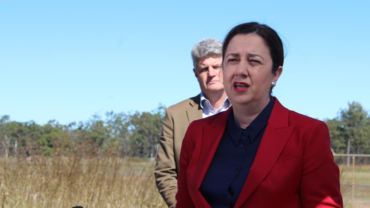 Queensland Premier Annastacia Palaszczuk visited Bundaberg to announce the preferred site for the new Bundaberg Hospital.