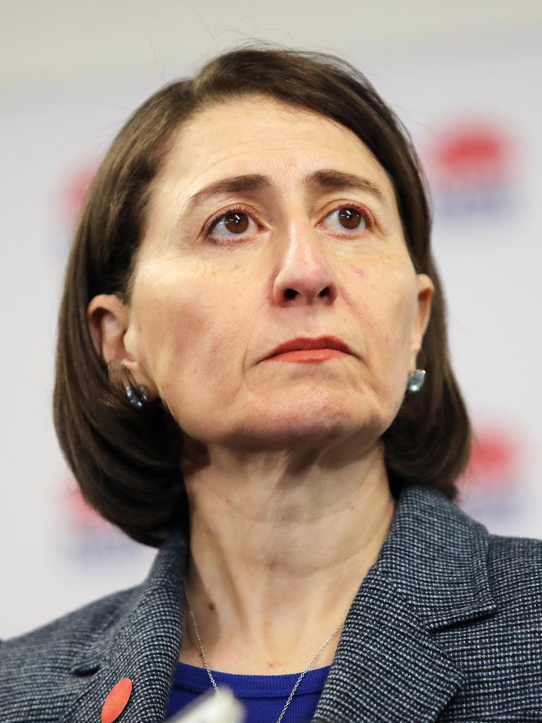 NSW Premier Gladys Berejiklian was blindsided by the decision to close the Queensland border to Sydneysiders. Picture: Richard Dobson