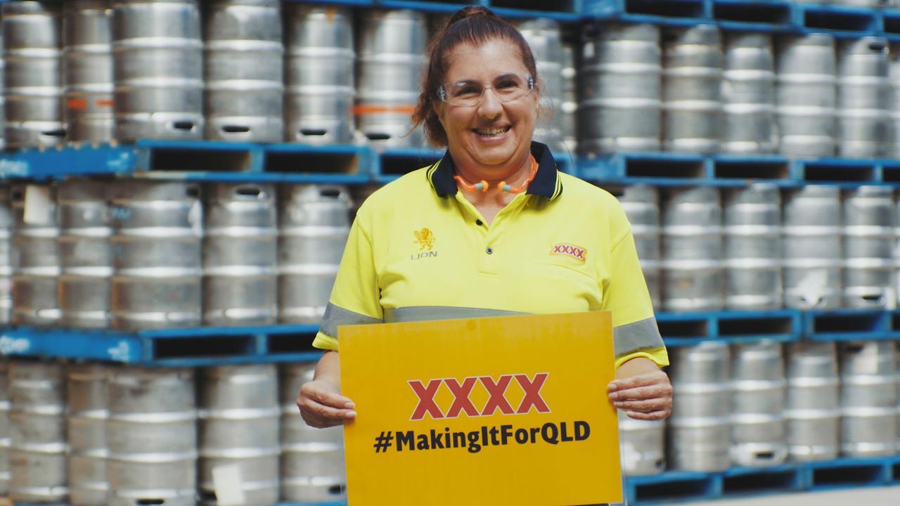 Free XXXX keg delivery refills Queensland taps.