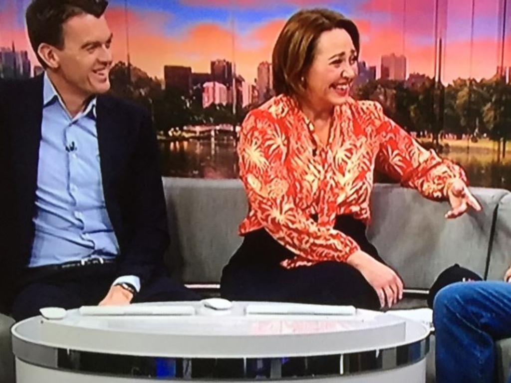 Michael Rowland and Lisa Millar on air.
