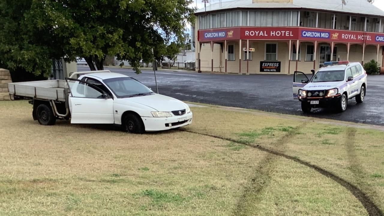 FORTUNATE WEATHER: Mundubbera police said they avoided tragedy over the weekend after an unaccompanied L driver nearly drove into a playground on Lyons St. Picture: Contributed
