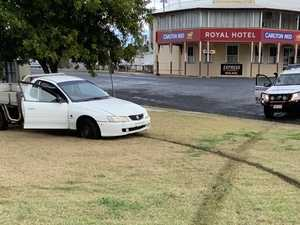 Speeding, unregistered driver almost slams into playground