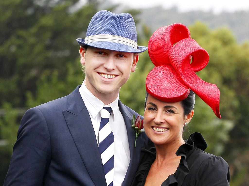 Jo Palmer and husband Andrew Palmer, pictured at the Launceston Cup.