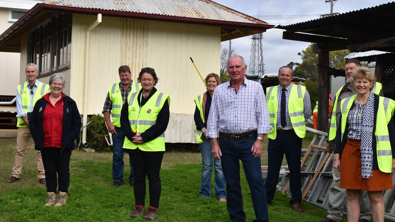 GAYNDAH'S MAKEOVER: North Burnett councillors with Rural Aid members at the Gayndah Museum. Picture: Sam Turner