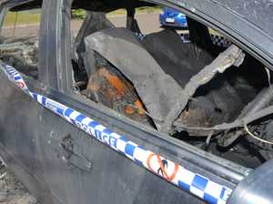 Police not investigating after a car burst into flames