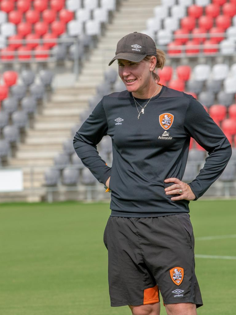 Mel Andreatta as Roar coach. PICTURE: Ant Sartori