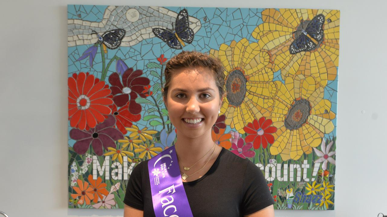 RELAY FOR LIFE: Molly Dawson is the face of Bundaberg's Relay For Life, which will be an online event this year. Picture: Rhylea Millar.