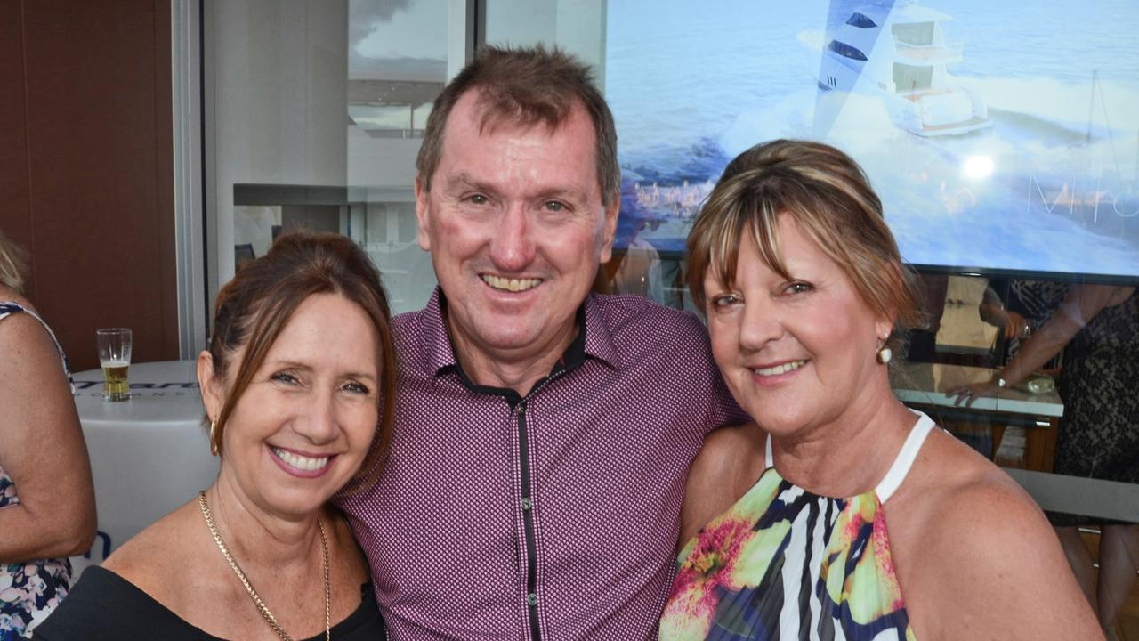 Liz and Shane Leadbetter, pictured with Tina Wilson.