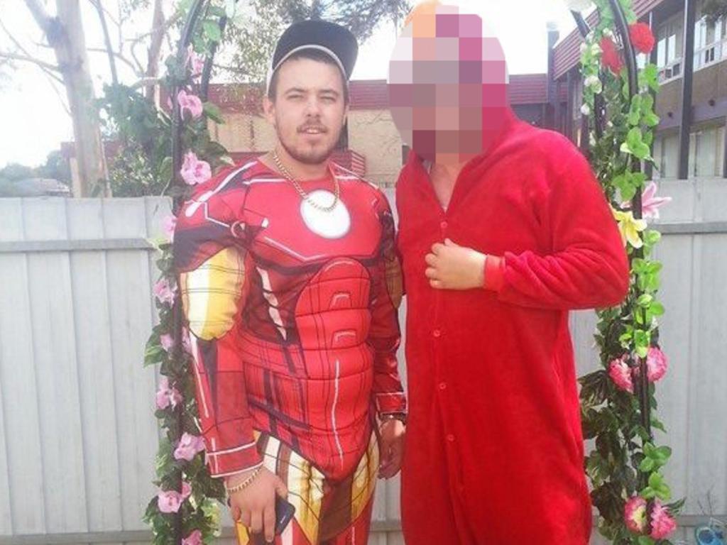 Damien Steven Butler dressed as Iron Man. Picture: Facebook