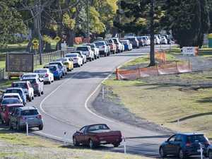 Traffic backed up as COVID-19 fears lead to testing spike