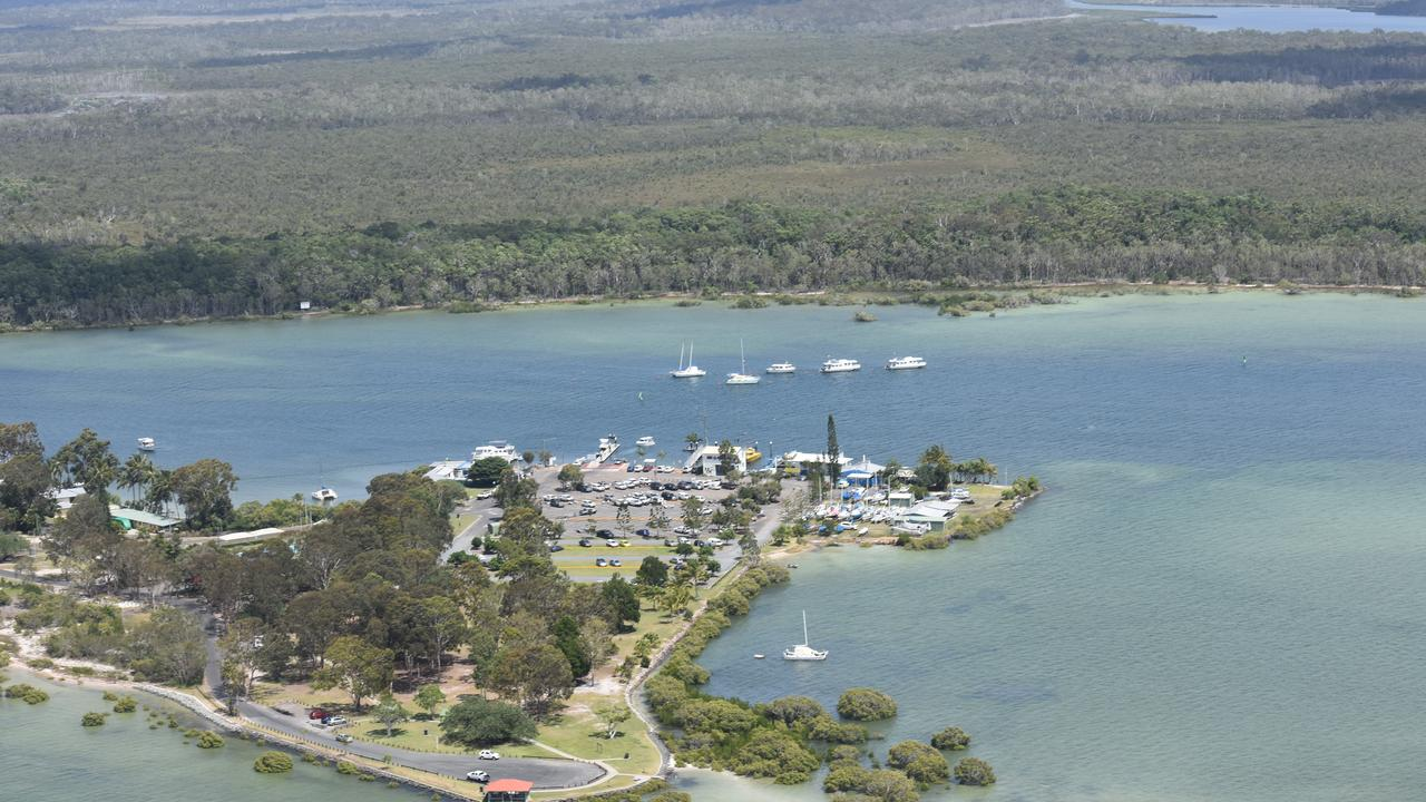 An aerial shot of Tin Can Bay