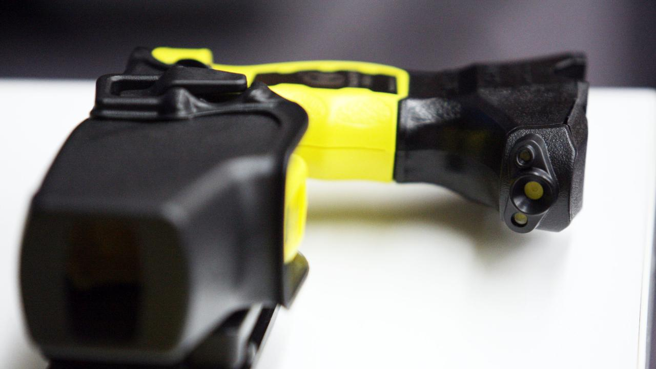 Generic of some of the 2000 Taser stun guns handed over to NSW Police at the Sydney Police Centre in Surry Hills. The Tasers are equipped with cameras which activate once the gun is drawn.