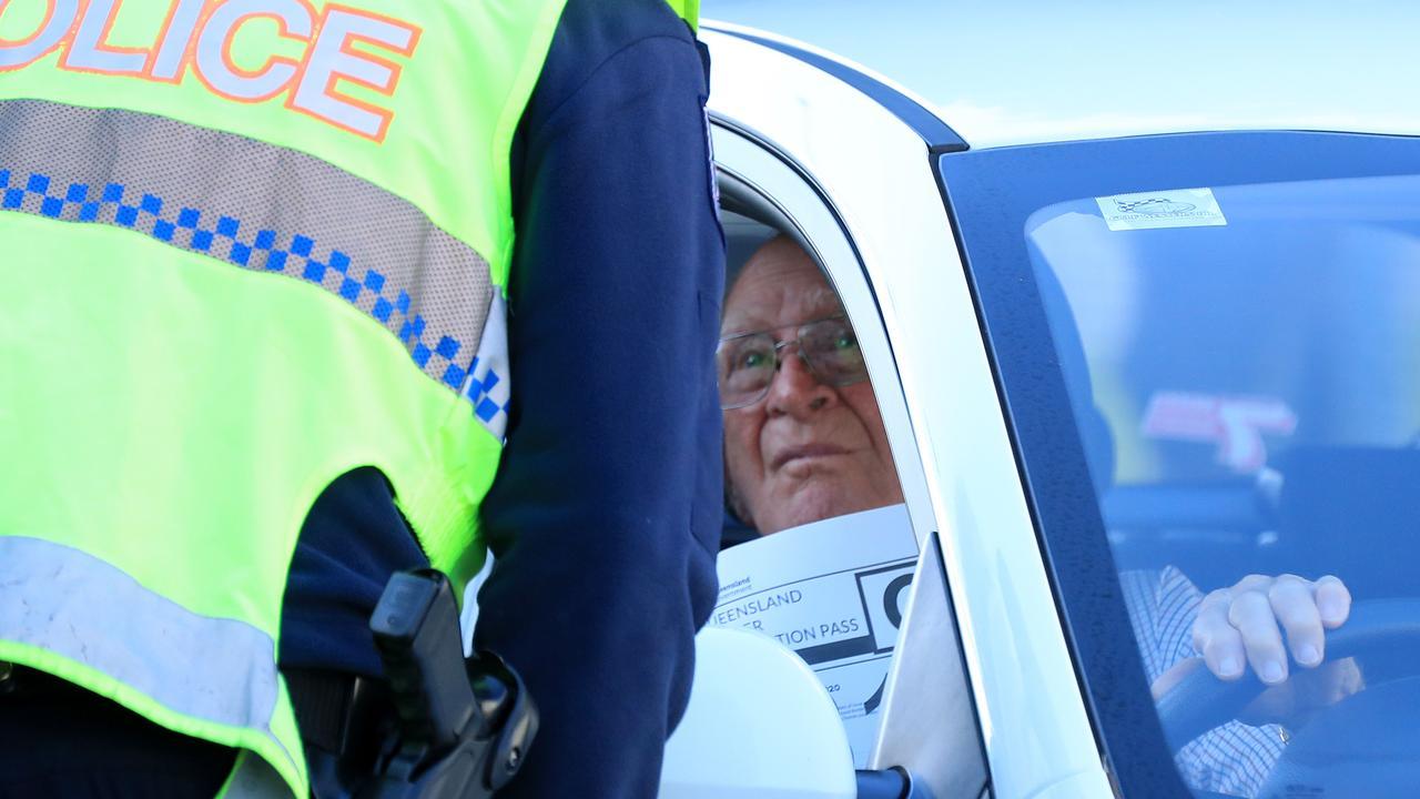 Police conducting border enforcement duties.