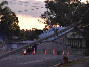 PHOTOS: Power crews on scene, man in 50s taken to hospital