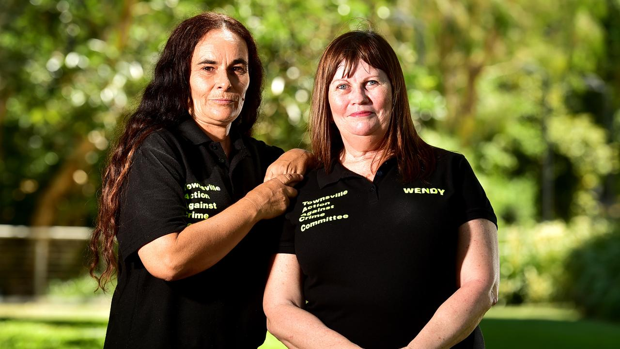 Townsville Crime Commitee members Antia Manwaring and Wendy Ambrose